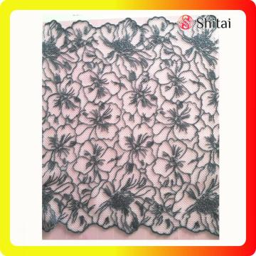 French Embroidery COTTON Net Lace Fabric 2018