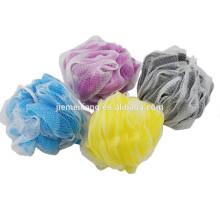 JML Soft Body bath scrubber sponge bath soap mesh sponge scrubber with hign quality