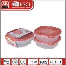 Caixa de recipiente de alimento plástico microondas (2pcs) 0,67 L