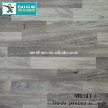 NWseries Três partes de piso de madeira de carvalho HDF núcleo Revestimento