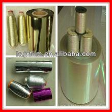 Película de hilado metálico de poliéster de oro