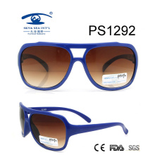 Blue Color Full Rim Colorful Kid Plastic Sunglasses (PS1292)