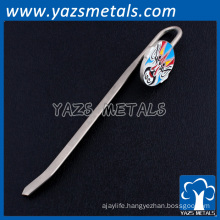 cheap silver plating custom metal facial makeup bookmarks