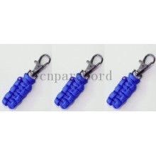 Blue 550 pracord  zipper pull