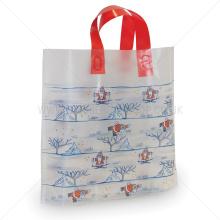 Square Bottom Plastic Gift Bags For Christmas