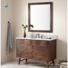 """Design de banheiro Italian Cararra White Marble Top 48 """"Set de vaidade de banho / American Style Bathroom Cabinet"""