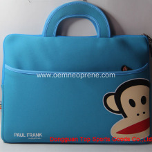 New Arrival for Neoprene Laptop Sleeves Paul Frank Blue Waterproof Neoprene Laptop Bags supply to Japan Importers