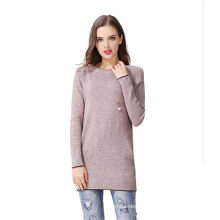 PK18A73HX Pullover Women Dress Round Neck Cashmere Sweater