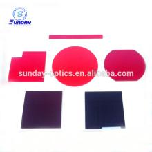 Filtro óptico de vidro vermelho 600-720nm