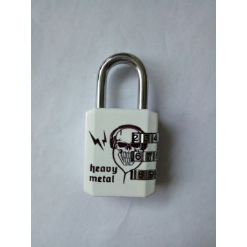 Heat printing decoration flower design iron padlock