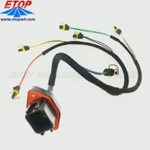 Arnés de cable de inyección de combustible de motor diesel personalizado con conectores DTV02-18