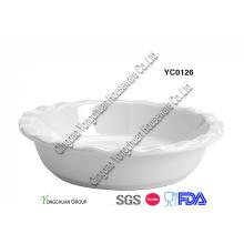 Panneau à tarte en céramique blanc 9 pouces