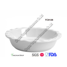 Ceramic White 9inch Pie Pan
