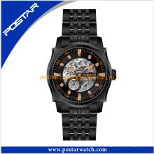 Moda de Luxo Assista New Stainess Steel Back Watch