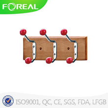 Wooden Clothes Hooks with Colorful Cremic Beads