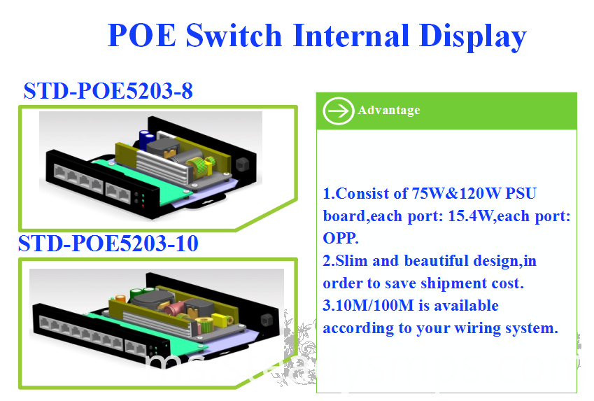 4 port POE switch