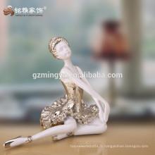 Custom, belle, élégante, ballet, beauté, danse, résine, ange, artisanat, figurine, statue