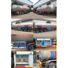LPG Tank Trailer 40000~60000 Liters, LPG Gas Truck Trailer