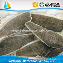 Sabor natural saudável filete de peixe congelado filete de solha de seta