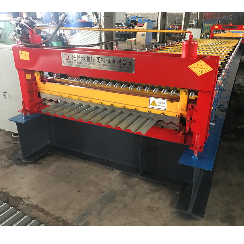 Aluminum Roof Corrugated Roll Forming Machine