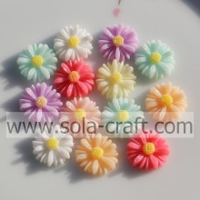 Wholesale 13MM Lovely Solid Color Resin Flower Beads