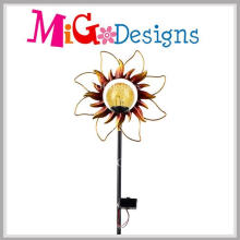 Sunflower Design Solar Powered Outdoor Garden Stake Color Light