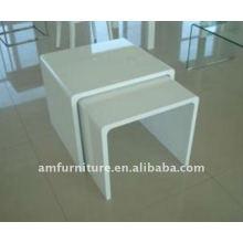 Modern E1 MDF mesa de café branco de alto brilho