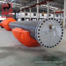 HDPE pipes PN25 with steel flange for dredging ISO4427