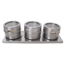 Pots d'épices magnétiques en acier inoxydable magnétiques Cruet