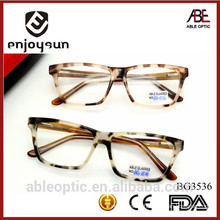 2015 colored spot pattern fashion design acetate hand made spectacles optical frames eyewear eyeglasses