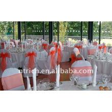 Couverture de chaise de banquet standard, CT039 polyester matière, durable et facile lavable