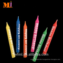 Advanced Equipment BRC Approved Happy Birthday Printed Best Thin Pillar Candle Sale