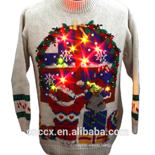 14STC8056 2017-2018 Latest unisex christmas sweater with LED lights