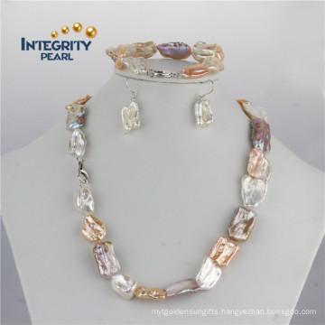 11-18mm Biwa Square Pearl Set Mixed Color Pearl Set Designs