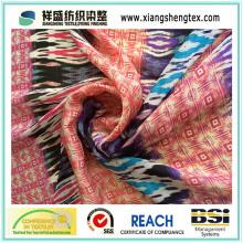 30d tecido de cetim estilo impresso chiffon para saia