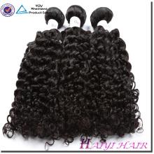 Les cheveux malaisiens ont aligné de grandes actions naturelles 8A 9A 10A cheveux bouclés humains