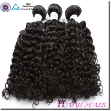 O cabelo malaio alinhou o cabelo encaracolado natural humano 8A 9A 10A dos grandes estoques