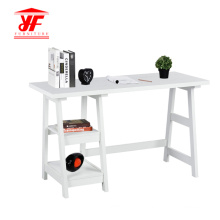 Latest Luxury Wooden White Office Desk With Shelf