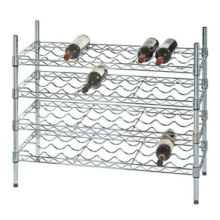Hot Sale Adjustable 9 Bottles Metal Wire Creative Wine Rack Shelf