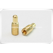 DIN915 parafuso de ajuste de latão com ponto de cilindro