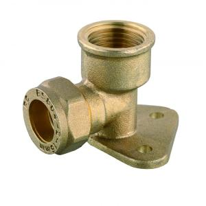 elbow wall plate brass compression fitting