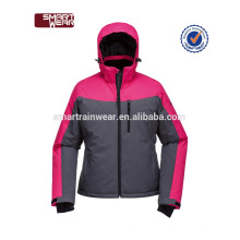 Новый женский полиэстер Вудланд куртка зима теплая хлопка-ватник куртка с капюшоном