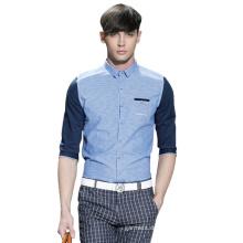 100% Baumwollmänner Formal Fashion Long Sleeves Kleid Shirt