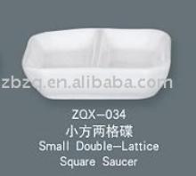 small double-lattice square saucer