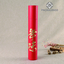 Custom red paper tube box