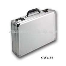 silver portable aluminum laptop case with code locks wholesales