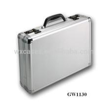 caso de laptop portátil de alumínio com código fechaduras atacado de prata