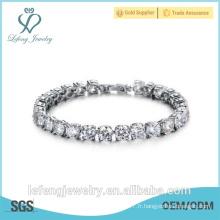Bijoux fantaisie pour dames Bracelet en pierre naturelle Bracelet plaqué platine en argent