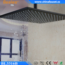 16′′ Black Stainless Mix Wall Mounted Mist Fall Head Shower