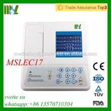 2016 High quality Three channel EGC machine Automatic analysis of digital ecg machine(MSLEC17)